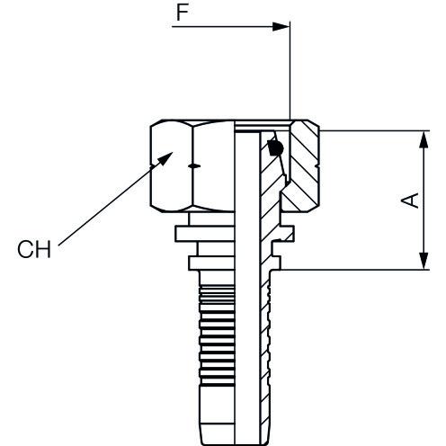 Hydrauliknippel RO, DKO